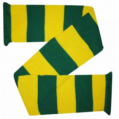 Chunky Green and Gold Bar Scarf