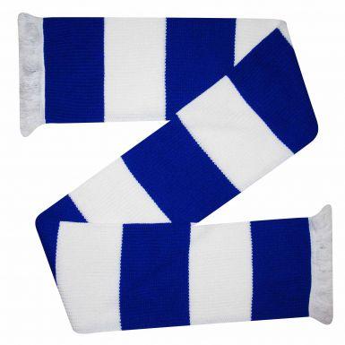Chunky Royal Blue & White Bar Scarf