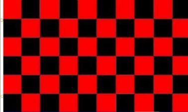 Giant Red & Black Checked Flag