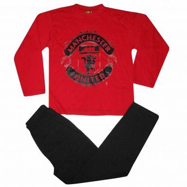 Man Utd Kids Crest Pyjamas