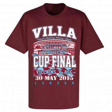 Aston Villa 2015 FA Cup Final T-Shirt
