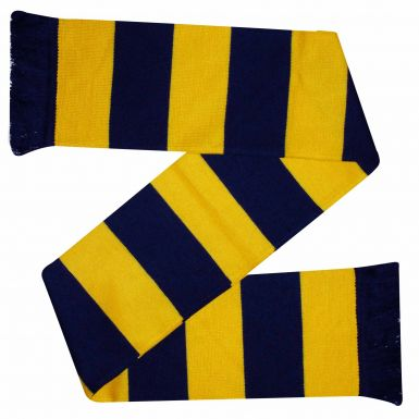 Yellow & Navy Blue Bar Scarf