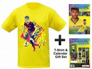 NEYMAR Jnr 2016 Calendar & T-Shirt Gift Set