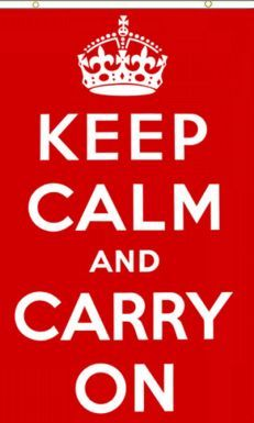 Giant Keep Calm & Carry On Flag