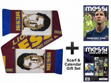 Lionel Messi 2016 Calendar & Scarf Gift Set