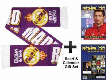 Cristiano Ronaldo 2016 Calendar & Real Madrid Scarf Gift Set