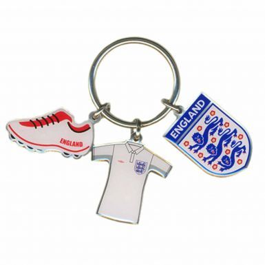 England 3 Lions Crest Mascot Keyring