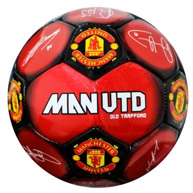 Official Man Utd Signature Soccer Ball Size 5