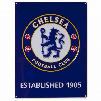 Large Chelsea FC Crest Metal Sign