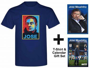 Jose Mourinho 2016 Calendar & T-Shirt Gift Set