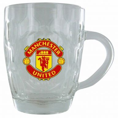 Manchester United Crest Dimple Pint Glass