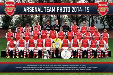 Arsenal FC Full Squad Team Poster