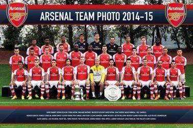 Arsenal FC Full Squad Team Poster