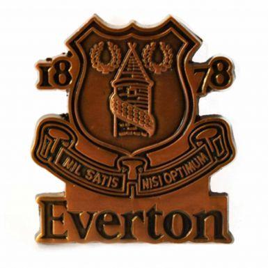Everton FC Antique Effect Crest Pin Badge