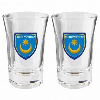 Portsmouth FC Crest Shot Glass Set