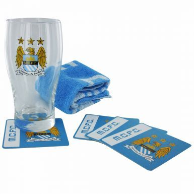 Manchester City Pint Glass Mini Bar Set