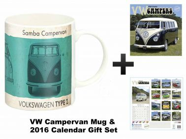 VW Campervan 2016 Calendar & Mug Gift Set