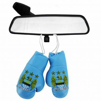 Manchester City Crest Mini Boxing Gloves