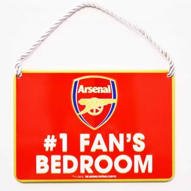 Arsenal FC No.1 Fan Metal Sign