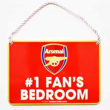 Arsenal FC No.1 Fan Metal Sign