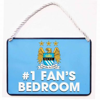 Manchester City No.1 Fan Metal Sign