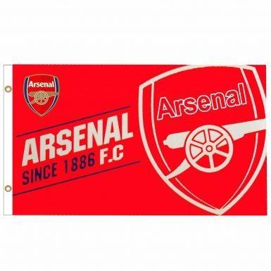 Arsenal FC Est 1886 Crest Flag