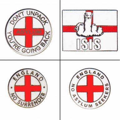 England Anti Asylum Seekers Badge Set