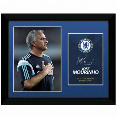 Jose Mourinho Autograph Framed Print