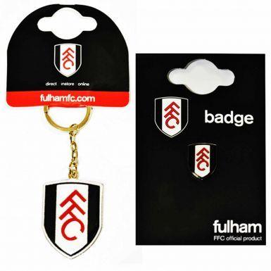 Fulham FC Keyring & Pin Badge Set