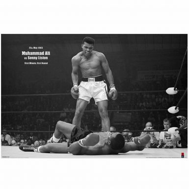 Muhammad Ali vs Liston Knockout Boxing Poster