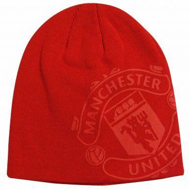 Kids Manchester Utd Beanie Hat