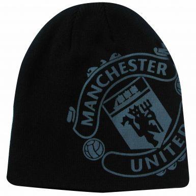 Kids Manchester United Crest Beanie Hat