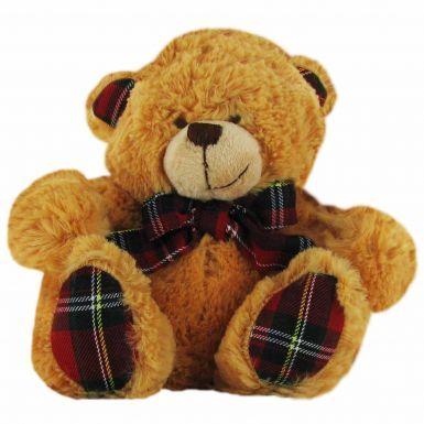 Scotland Tartan Scarf Cuddly Teddy Bear