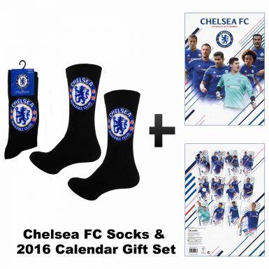 Official Chelsea FC 2016 Calendar & Socks Gift Set