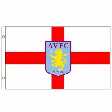 Aston Villa Crest & Cross of St George Flag