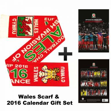 Wales 2016 Football Scarf & Calendar Gift Set