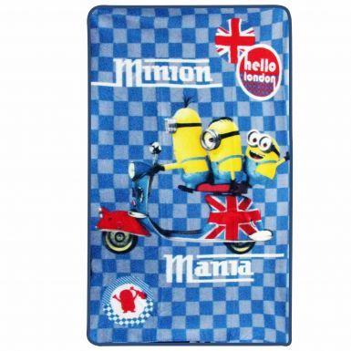 Official Minions Mania Hello London Fleece Blanket