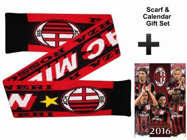 AC Milan 2016 Calendar & Scarf Gift Set