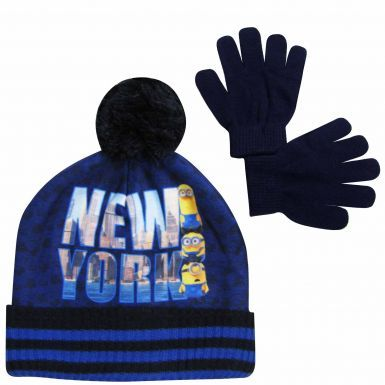 Minions Film Character Kids Hat & Gloves Set