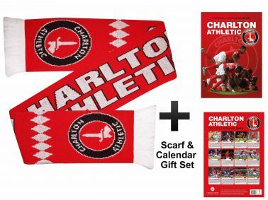 Charlton Athletic 2016 Calendar & Scarf Gift Set