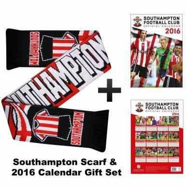 Southampton FC 2016 Calendar & Scarf Gift Set