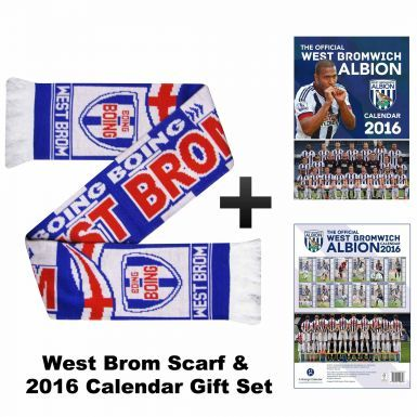 West Bromwich Albion 2016 Calendar & Scarf Gift Set