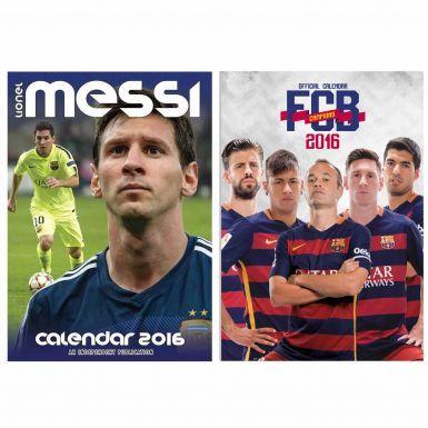 Lionel Messi & FC Barcelona 2016 Calendar Twin Set