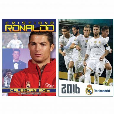 Cristiano Ronaldo & Real Madrid 2016 Calendar Twin Set