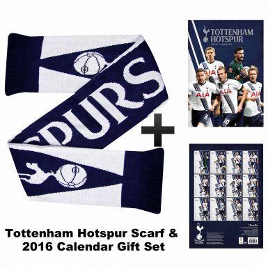 Tottenham Hotspur 2016 Calendar & Scarf Gift Set