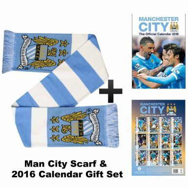 Manchester City 2016 Calendar & Scarf Gift Set