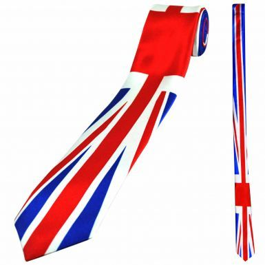 Union Jack Skinny Neck Tie