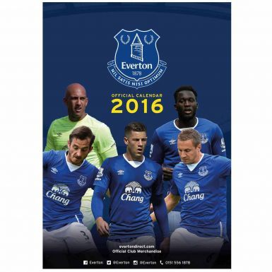 Everton FC 2016 Football Calendar