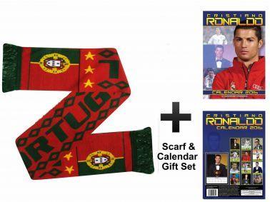 Portugal Scarf & Cristiano Ronaldo 2016 Calendar Gift Set