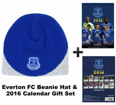 Everton FC 2016 Calendar & Beaniet Hat Set